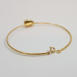 Bracelet or 750 millièmes Grenat de Perpignan poire