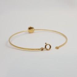 Bracelet or 750 millièmes Grenat de Perpignan rond